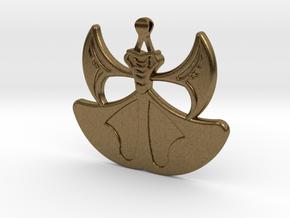 Lion Heart Flower Pendant in Natural Bronze