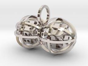 Charm: Lucky Balls (b) in Platinum