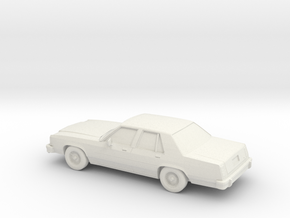 1/87 1979 Ford Crown Victoria in White Natural Versatile Plastic