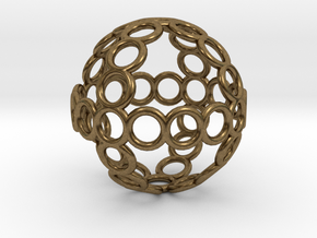 Charm: Sphere of Rings in Natural Bronze
