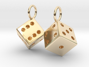 Charm: 2 Dice in 14K Yellow Gold