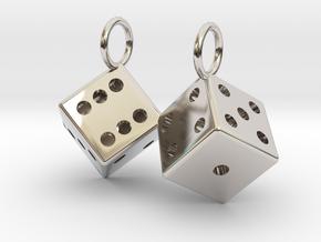 Charm: 2 Dice in Platinum