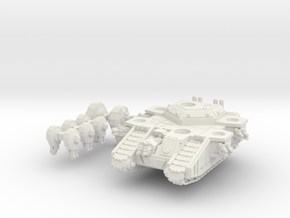 6mm StormMallet Superheavy Sci-Fi Tank in White Natural Versatile Plastic
