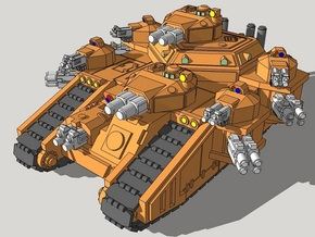 6mm StormMallet Superheavy Sci-Fi Tank in Smooth Fine Detail Plastic