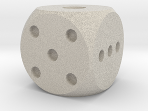 Balanced Dice v2 in Natural Sandstone
