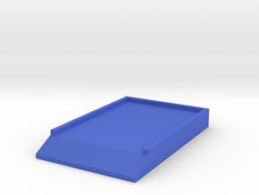 Bottom Board 1/8 scale in Blue Processed Versatile Plastic