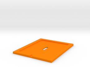 Inner Cover 1/8 scale in Orange Processed Versatile Plastic