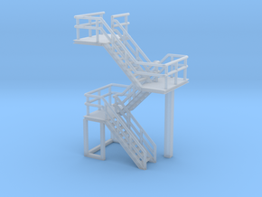 N Scale Concrete Plant Stairs 35.1mm in Smooth Fine Detail Plastic