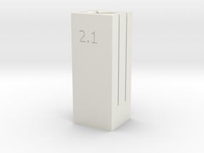 6/8 Tube Cutter 2.1/2.2 Dual Depth in White Natural Versatile Plastic