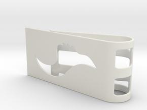 Flow Face Money Clip in White Natural Versatile Plastic