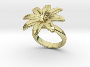 Flowerfantasy Ring 30 - Italian Size 30 in 18k Gold Plated Brass