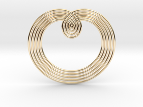 0526 Motion Of Points Around Circle (5cm) #003 in 14K Yellow Gold