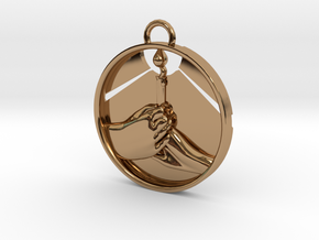 """""""Love Shares the Light"""" Pendant in Polished Brass"""