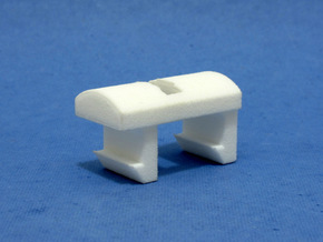 Ski Pole Clip in White Natural Versatile Plastic