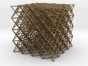 512 Tetrahedrons in Raw Bronze