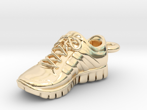 Running Shoe Charm  in 14k Gold Plated Brass