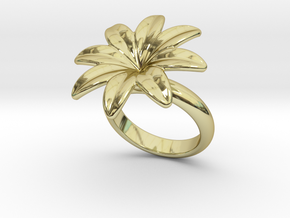 Flowerfantasy Ring 33 - Italian Size 33  in 18k Gold Plated