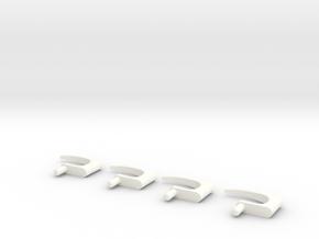 1.6 Poignees Porte EC145/135 in White Strong & Flexible Polished