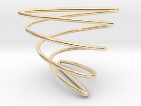 Math Spring (Lissajou Curve) in 14K Yellow Gold