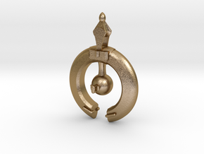 Blockade Ship Pendant in Polished Gold Steel