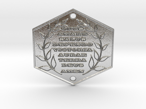 Words of Power & Blessings in Latin Door Plaque in Raw Silver