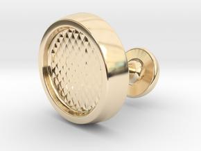Custom Cufflink #01 in 14k Gold Plated Brass