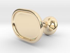 Custom Cufflink #03 - Oval in 14k Gold Plated Brass