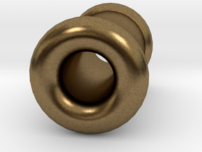 4 gauge (5mm) Double Flare Ear Tunnel  in Natural Bronze