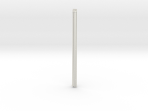 1:72 scale Navy whip antenna -Square (35 Foot) in White Natural Versatile Plastic
