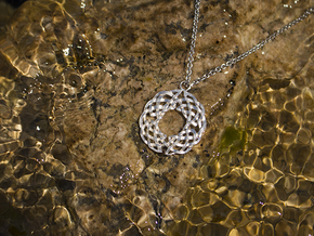 Celtic Knot Pendant in Natural Silver