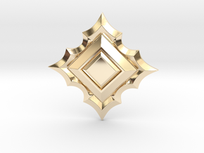 Jeweled Star 01 - 40mm in 14k Gold Plated Brass