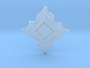 Jeweled Star 01 - 50mm in Smooth Fine Detail Plastic