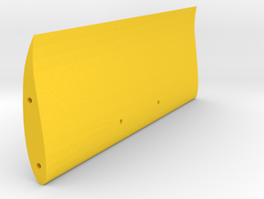 "Speed Run ""High Speed"" rear wing, V1 in Yellow Processed Versatile Plastic"