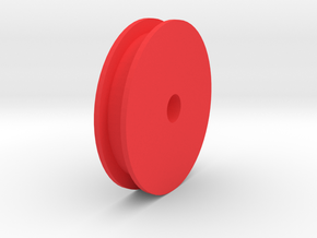 Front Wheel, RC speed run car in Red Processed Versatile Plastic