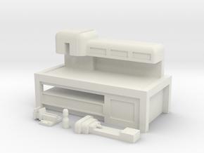 Workshop Workbench in White Natural Versatile Plastic