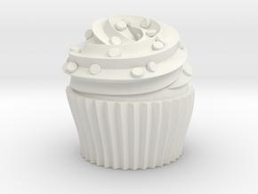 Cupcake Swirl Party Favor in White Natural Versatile Plastic