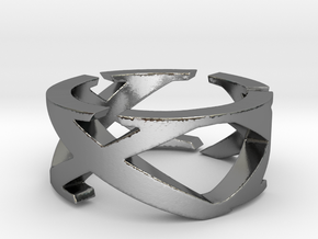 XXX - Roman Numerals Ring - Size 12 in Polished Silver