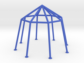 Tent Frame 8-angular reinforced in Blue Strong & Flexible Polished