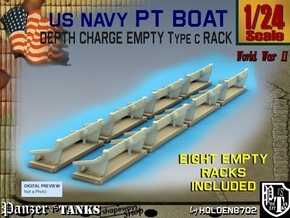 1-24 Depth Charge Empty Rack Type C Set2 in Frosted Ultra Detail