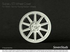 Racing Wheel Cover 07_56mm in White Strong & Flexible
