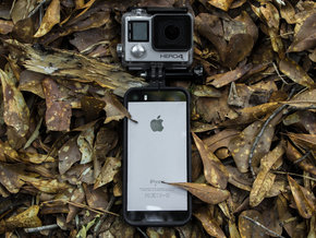 M1X Pro GoPro case for iPhone 5 & 5s in Black Natural Versatile Plastic