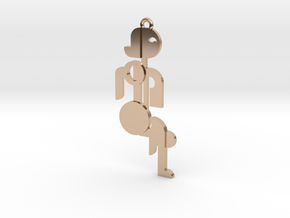 Bauhaus Lady in 14k Rose Gold Plated Brass