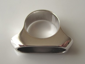 Box for Pillbox Ring - size 10 in Rhodium Plated Brass