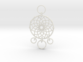 Dreamcatcher Keychain in White Natural Versatile Plastic