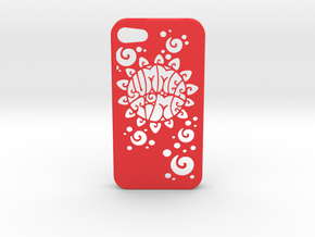 Iphone 4 Case Summer Time in Red Processed Versatile Plastic