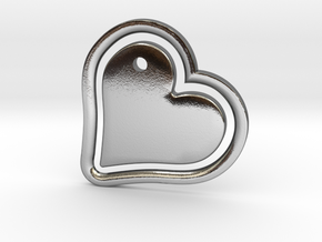 Heart in my Heart (w. customization tool) in Polished Silver