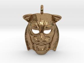 Tiger kabuki-style  Pendant in Natural Brass