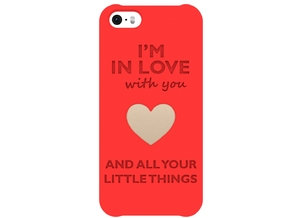 iPhone 5/5s/SE_Love case in Red Processed Versatile Plastic