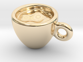 Coffee Cup Earring Or Pendant in 14K Yellow Gold