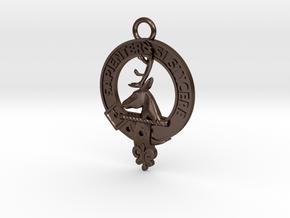 Clan Davidson key-fob in Polished Bronze Steel